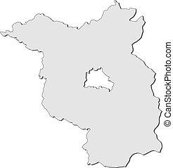 Map of Brandenburg (Germany) - Map of the state Brandenburg...