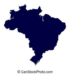 Map of Brazil on white background