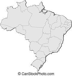 Map of Brazil - Political map of Brazil with the several...