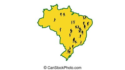 Map of Brazil. The cities in which the World Cup takes...