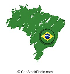 Map of Brazil with a label
