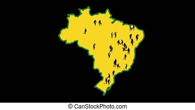 Map of Brazil, World Cup cities - Map of Brazil. The cities...