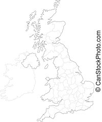 Map of Britain - This is a simple map of Britain.