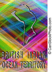 Map of British Indian Ocean Territory, colorful background