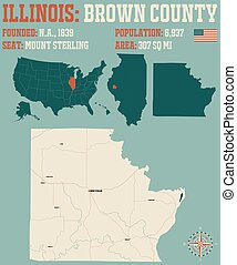 Map of Brown County in Illinois