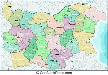 Map of Bulgaria - Bulgaria is a country in southeastern...