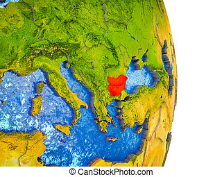 Map of Bulgaria on 3D Earth