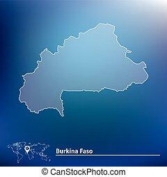 Map of Burkina Faso