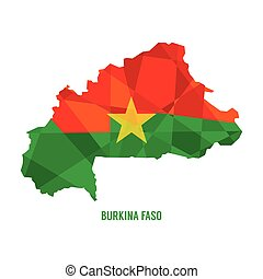 Map of Burkina Faso Vector