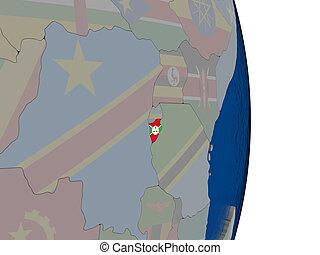Burundi with its flag