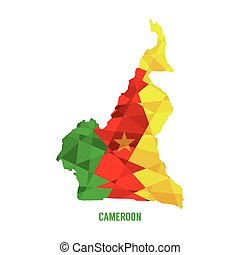Map of Cameroon.