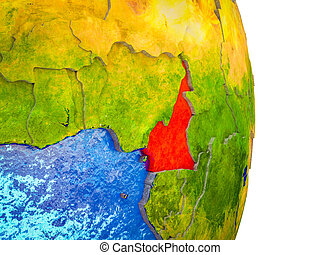 Map of Cameroon on 3D Earth