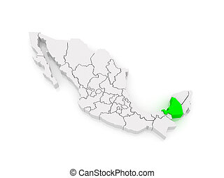 Map of Campeche. Mexico.