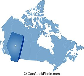 Map of Canada - Alberta province - Map of Canada where...