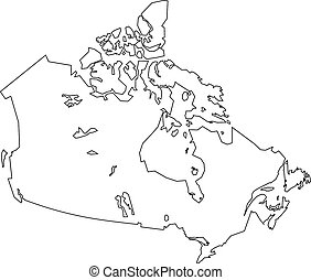 Map of Canada in white