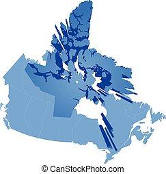 Map of Canada - Nunavut Territory