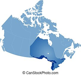 Map of Canada - Ontario province - Map of Canada where...
