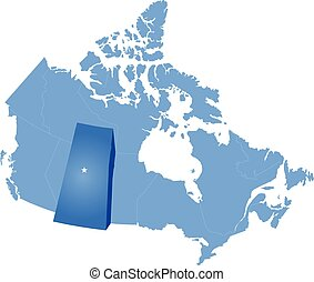 Map of Canada - Saskatchewan province - Map of Canada where...