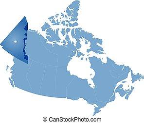 Map of Canada - Yukon Territory
