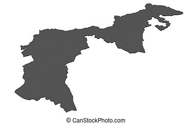 Map of canton Appenzell Ausserrhoden - Switzerland