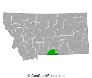 Map of Carbon in Montana