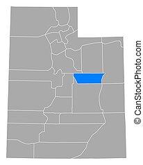 Map of Carbon in Utah