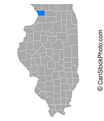 Map of Carroll in Illinois