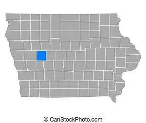 Map of Carroll in Iowa
