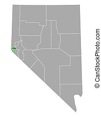 Map of Carson City in Nevada