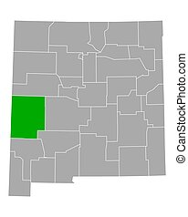 Map of Catron in New Mexico