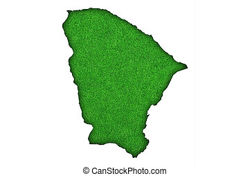 Map of Ceara on green felt
