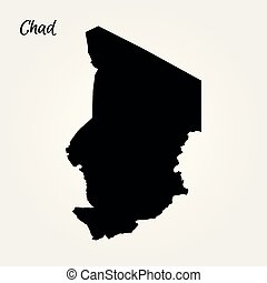Map of Chad. Vector illustration. World map