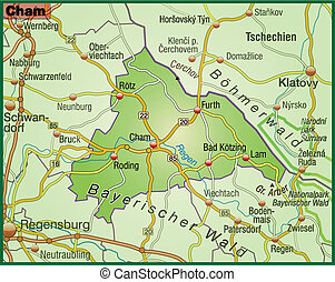 Map of cham