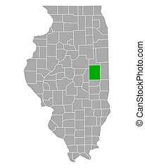 Map of Champaign in Illinois