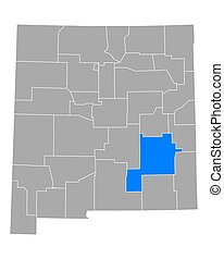 Map of Chaves in New Mexico