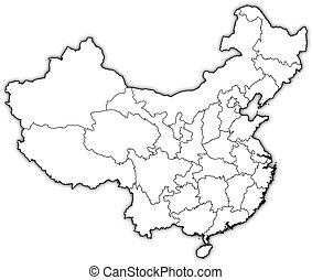 Map of china hong kong highlighted Map of china where hong