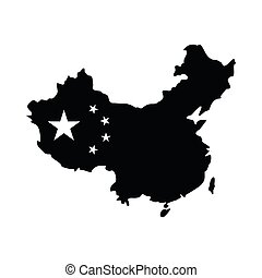 Map of China icon, simple style