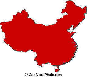 Map of China - Political map of China with the several...