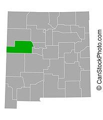 Map of Cibola in New Mexico