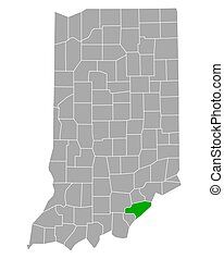 Map of Clark in Indiana