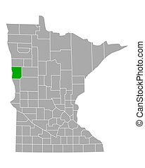 Map of Clay in Minnesota