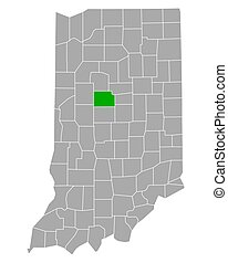 Map of Clinton in Indiana