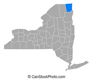 Map of Clinton in New York