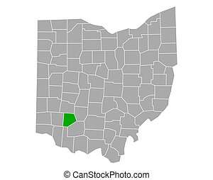 Map of Clinton in Ohio