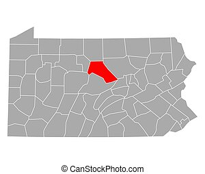 Map of Clinton in Pennsylvania