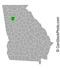 Map of Cobb in Georgia