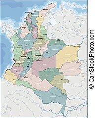 Map of Colombia - Colombia is a sovereign state largely...