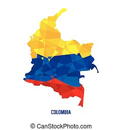Map of Colombia.