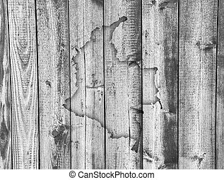 Map of Colombia on weathered wood