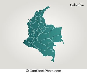 Colombia political map with capital bogota national borders eps map of colombia vector illustration world map gumiabroncs Choice Image